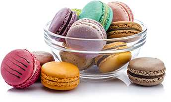 Bowl of macaroons beyond capacity